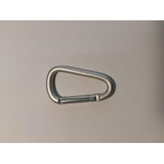 Карабин Tramp TRA-006-white-М алюминиевый, белый металик 6 см