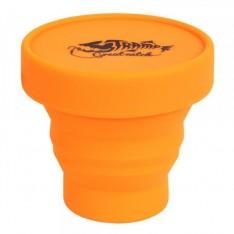 Стакан складной силиконовый с крышкой Tramp TRC-083-orange 180 мл