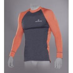 Футболка с длинным рукавом Tramp Outdoor Tracking Man TRUM-005T-OG мужская, серый/оранжевый