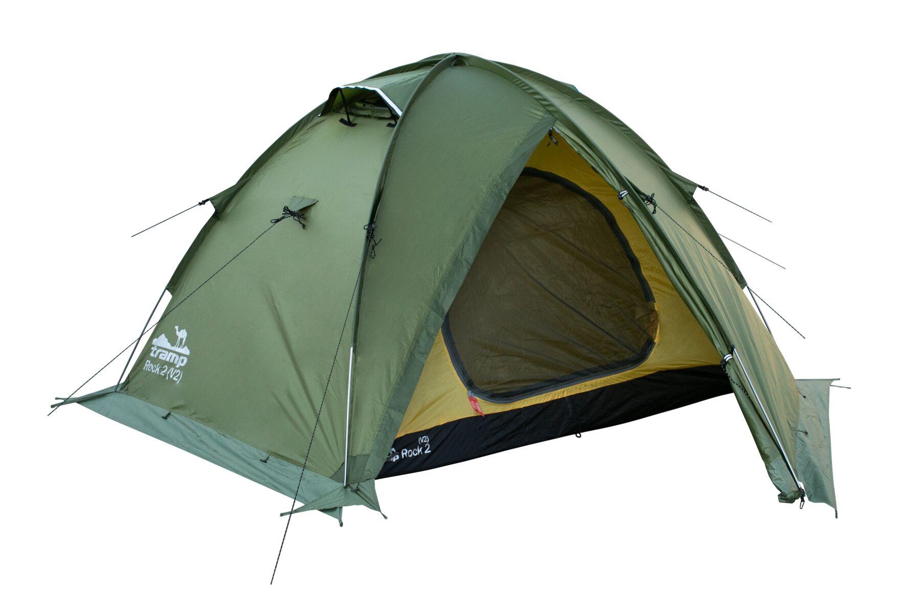 Палатка Tramp ROCK 2 (V2) Зеленая TRT-027-green