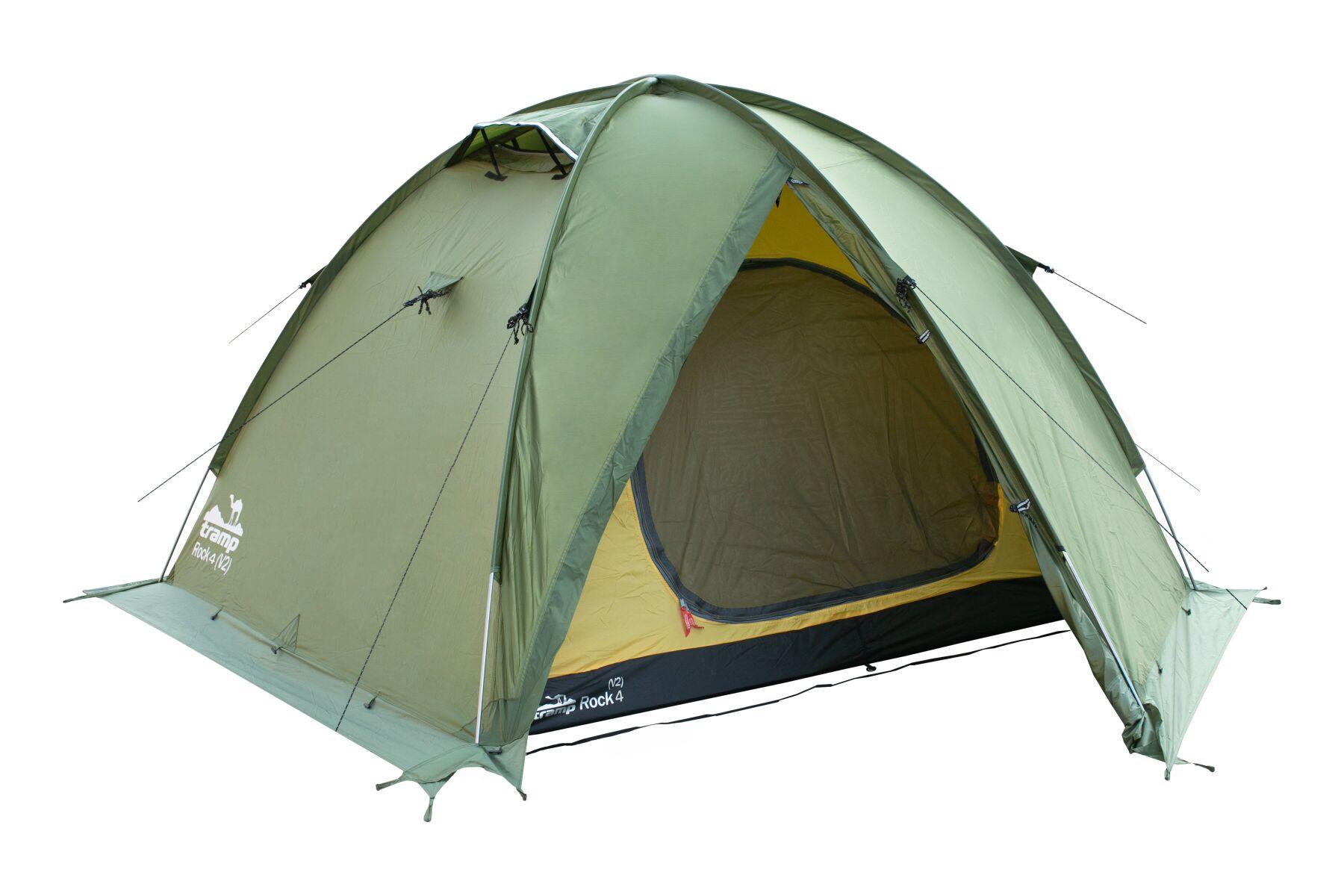 Палатка Tramp ROCK 4 (V2) Зеленая TRT-029-green